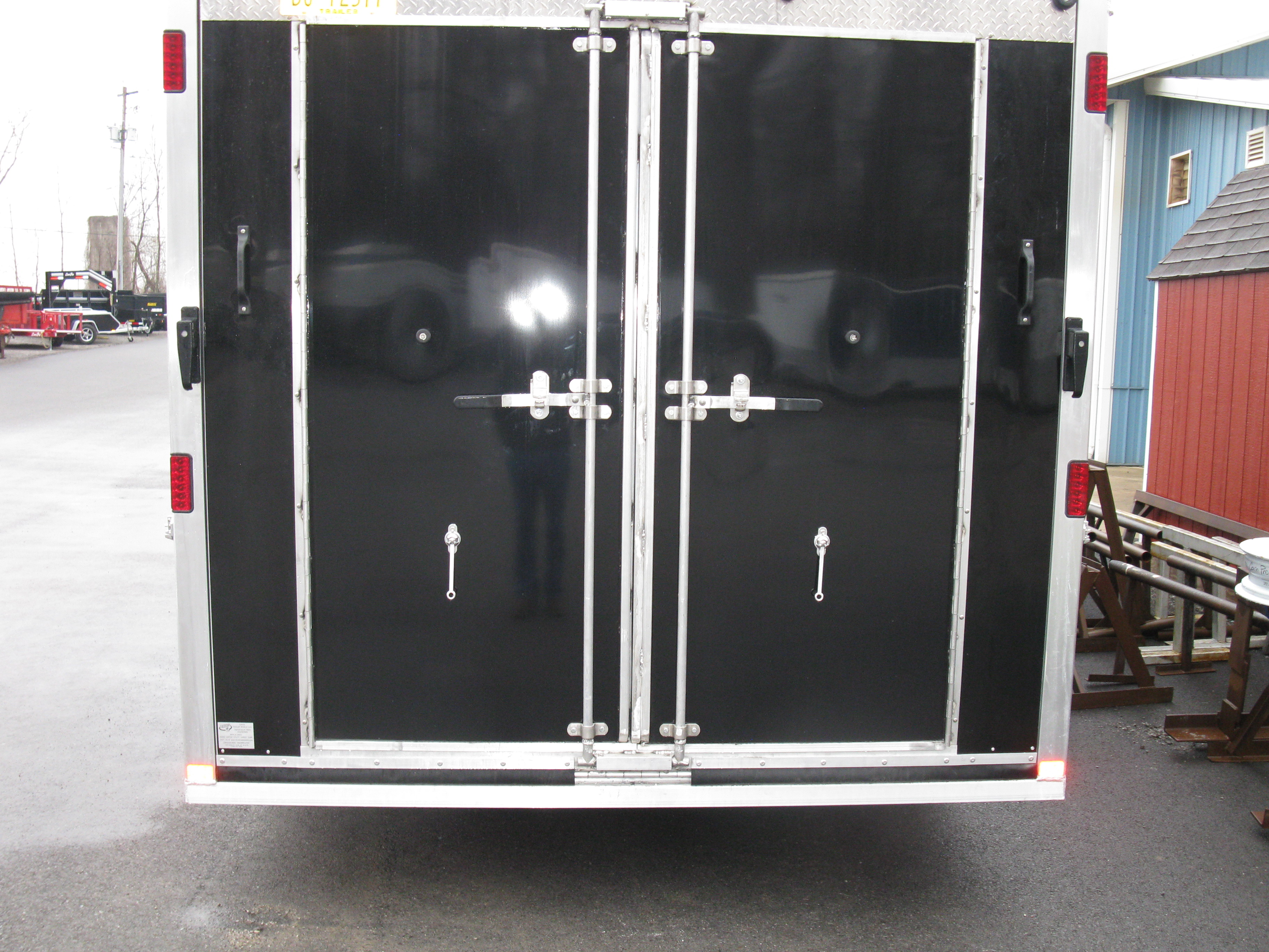 Custom Cargo Trailer with Rear R& and Double Doors & Custom Cargo Trailer with Rear Ramp and Double Doors - Davis ...