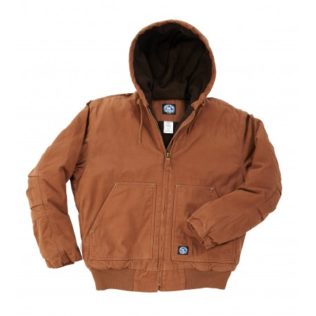 Key insulated fleece lined hooded jacket