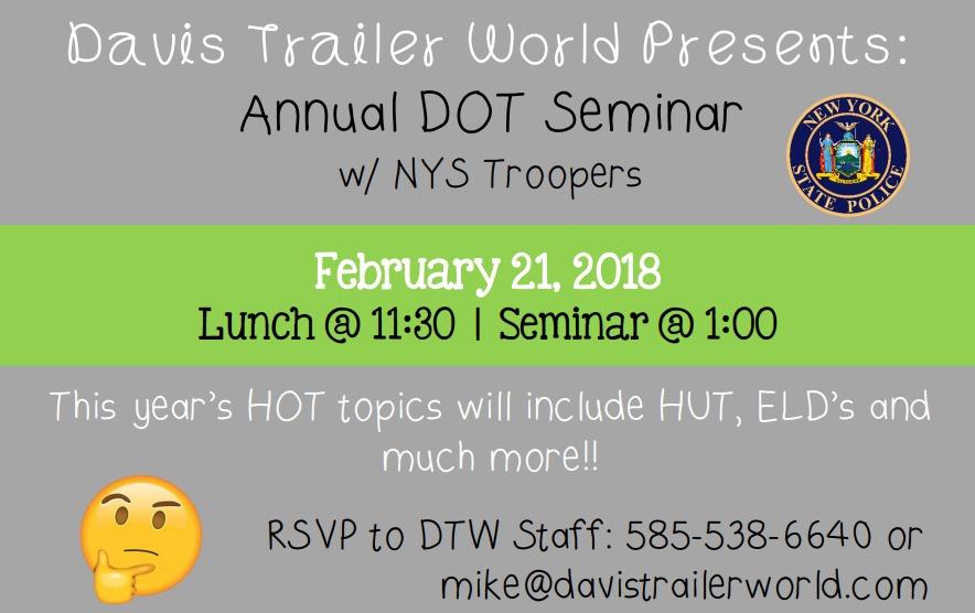 2018 DOT Seminar Davis Trailer