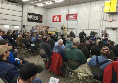 a great crowd at davis trailer sales